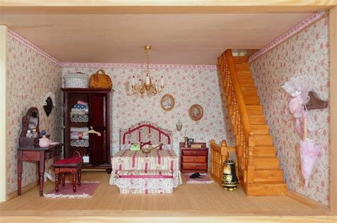 dollhouse bedroom morandi microworld villa amelia dollhouse bedroom