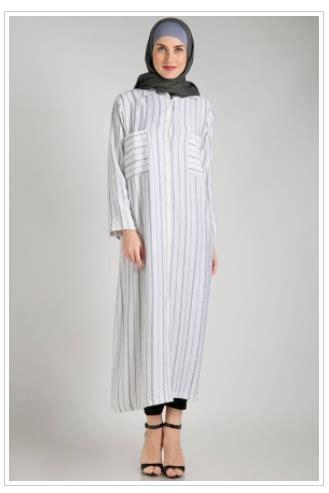 Monochrome Motif Bintang contoh foto baju muslim modern terbaru 2016 gaya padu