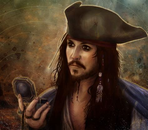 drawing and painting captain sparrow of jackie sullivan