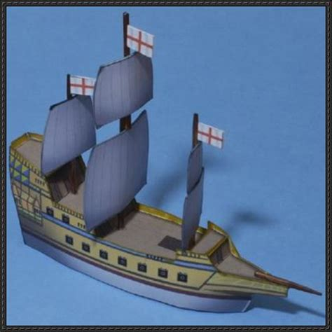 How To Make Ship Models In Paper - simple galleon free ship paper model