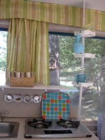 Shower curtain rod for storage in pop up camper picture borrowed from