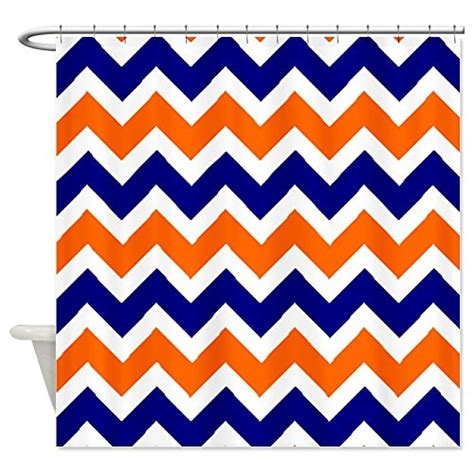 orange and white chevron curtains orange chevron shower curtain