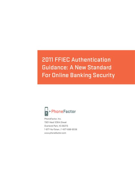 Ffiec Authentication Guidance A New Standard For Online Banking Security Ffiec Authentication Guidance Risk Assessment Template