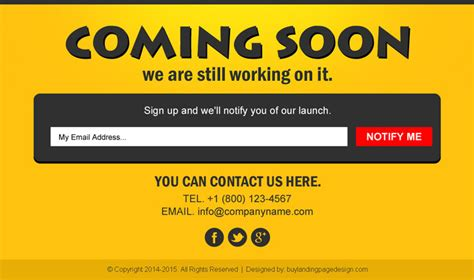 coming soon landing page design templates for your