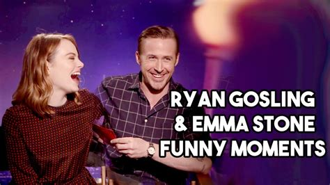 emma stone ryan gosling interview ryan gosling and emma stone interview funny moments youtube