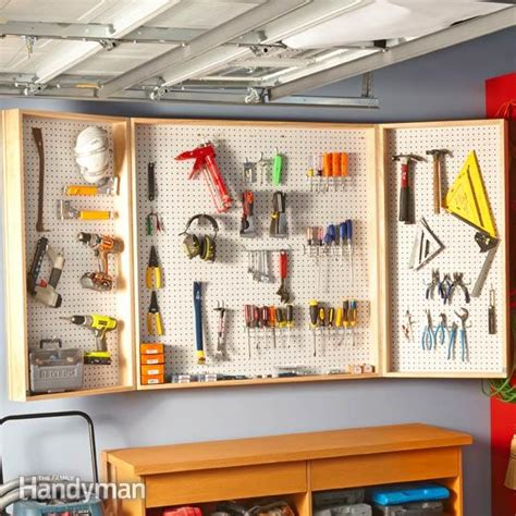 Garage Cabinets With Pegboard How To Build A Wall Cabinet The Family Handyman