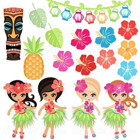 luau clip hawaiian luau clipart hula hibiscus tiki clip