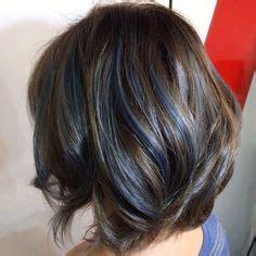 shag haircut brown hair with lavender grey streaks 1000 ideas about blue hair highlights on pinterest hair