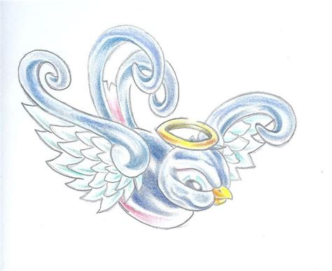 tattoo designs angel wings halo angel wings with halo drawings cliparts co