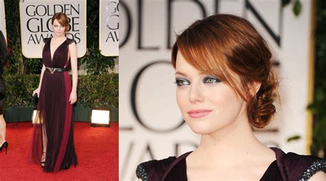 emma stones hair stylist tells us how to get her effed the golden globes red carpet hair styles hair extensions