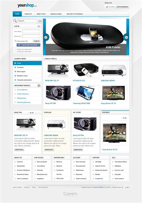template joomla free ecommerce 5 responsive joomla templates that designed with html5 css3