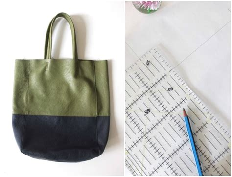 pattern drafting for bags upcycle style spotty gold tote bag my poppet makes