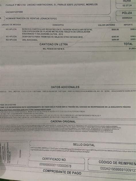 formato para pago de tenencia 2016 san luis potos pagos tenencia d f 2014 formato de pago de tenencia san