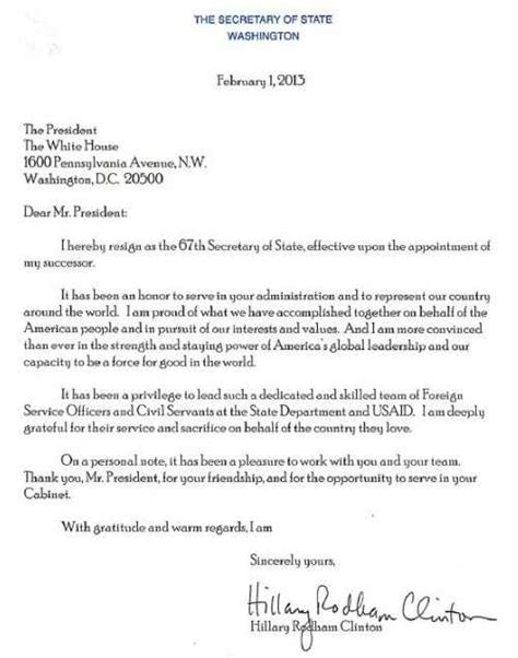 Clinton Resignation Letter look clinton s official letter of resignation the new civil rights movement