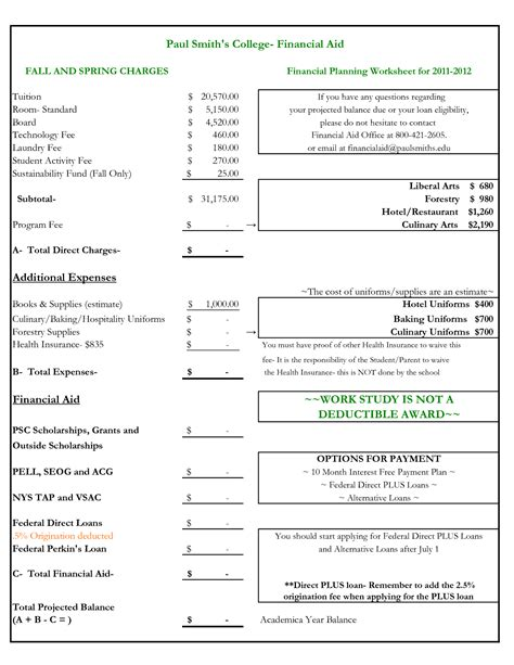 semester plan template 19 best images of college planning worksheet college