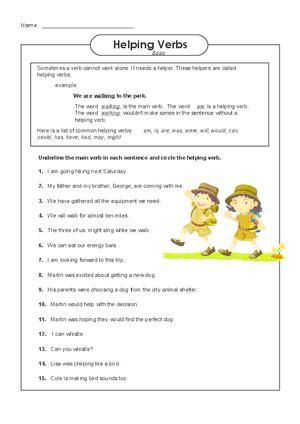 Helping Verb Worksheets by Helping Verbs Worksheet Lesupercoin Printables Worksheets