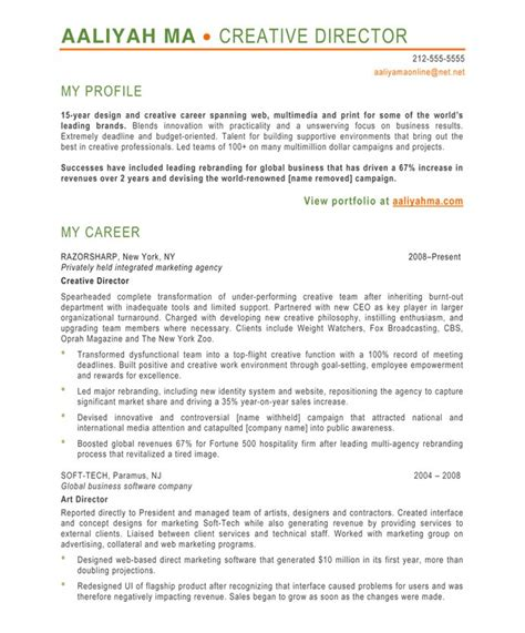 Resume Exles For Creative Creative Director Free Resume Sles Blue Sky Resumes
