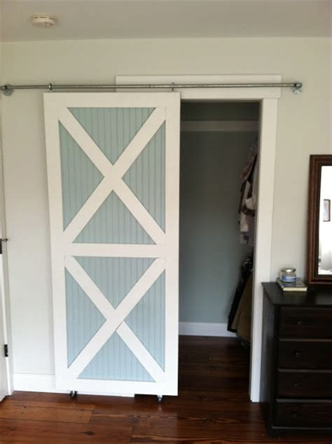 Barn Door Style Closet Doors Sliding Barn Style Closet Door Diy House Ideas