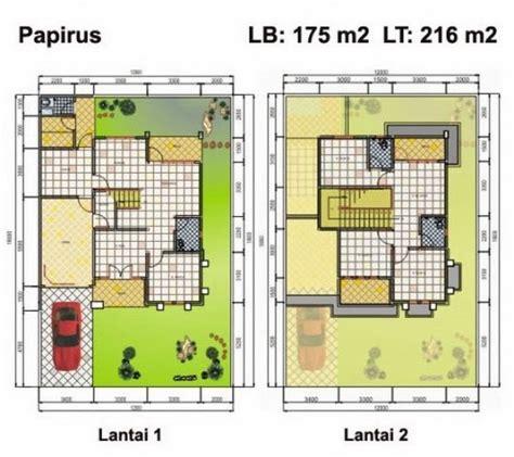 denah dan tak depan rumah minimalis lantai 2 type 70