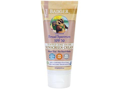 Badger Zinc Oxide Tinted Sunscreen Sz 11 essential sunscreens well