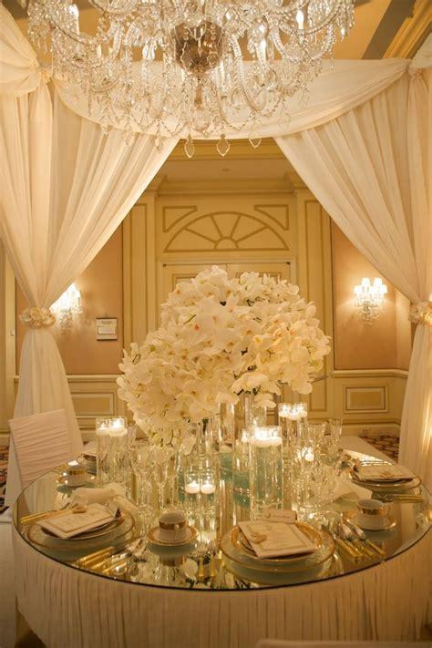 Ivory Gold Wedding Reception Wedding Style Pinterest Gold Centerpieces Wedding Reception