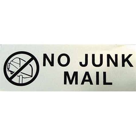 Markit Graphics No Junk Mail Sign   House Numbers   Mitre 10?