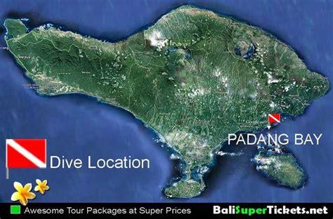 map location padang bay dive bali super  travel