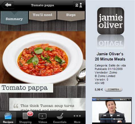 cocina de jamie oliverla jamie oliver en el iphone gastronom 237 a c 237 a