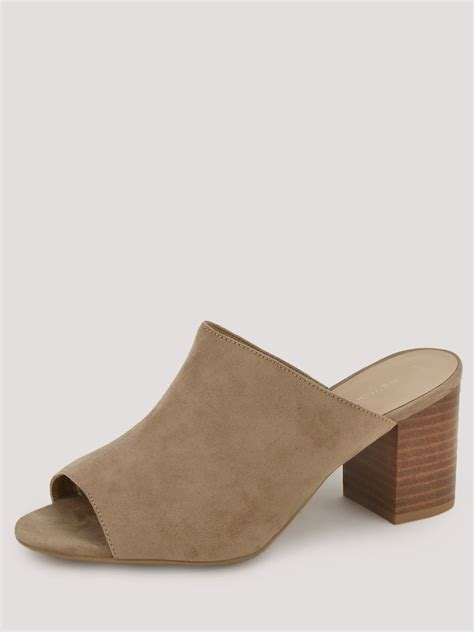 Block Heel Mules buy new look block heel mules for s brown