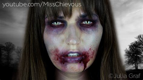 makeup tutorial trucco halloween zombie youtube julia graf the walking dead zombie makeup