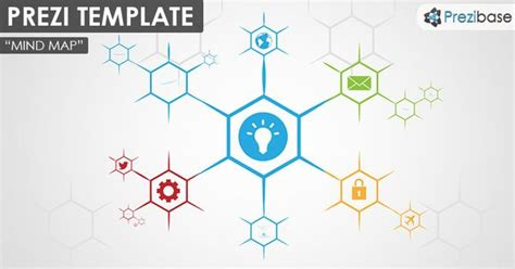 Prezi Template For Creating A Simple And Colorful Hexagon Shaped Mind Map Diagram Create A More Prezi Templates