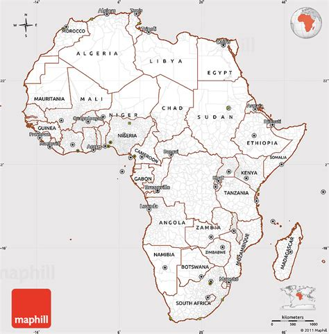 africa map easy classic style simple map of africa cropped outside