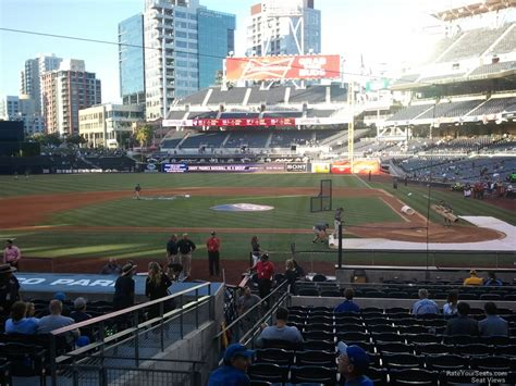 san diego section petco park section 106 rateyourseats com