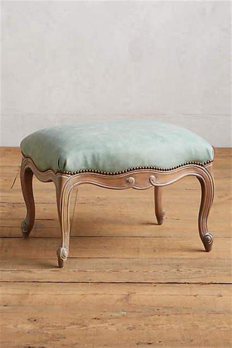oly tufted leather  frame ottoman