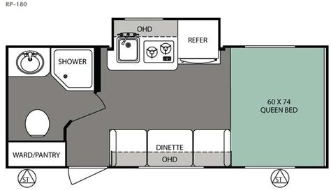 r pod floor plans used 2016 forest river rv r pod rp180 for sale 29684x