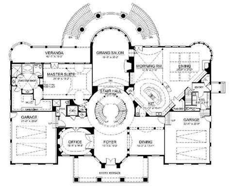 house plans with grand staircase european french home with 6 bdrms 9032 sq ft house plan 106 1037