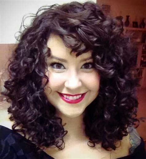 Hairstyles For Curly Hair With Bangs by 261 Best Images About Curly 3b Hairstyling Tips Ideas