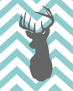 Kitchen Table Omaha by Chevron Stripe Deer Silhouette