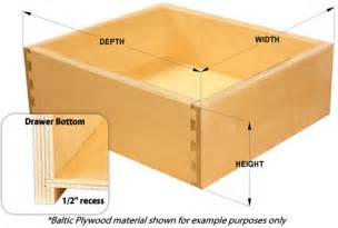 This is for drawer boxes only drawer guides drawer fronts and other