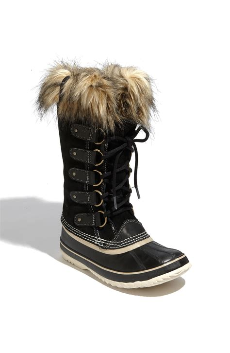 joan of arc sorel boots sorel 174 joan of arctic faux fur waterproof boots in black
