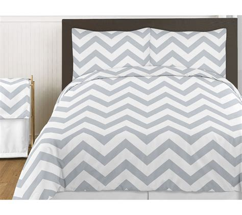 Gray White Chevron Zigzag Queen Size Bed In A Bag Comforter Set Bedding Ensemble Ebay