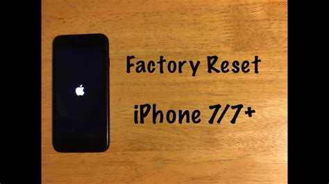 factory reset iphone    reset  factory settings youtube