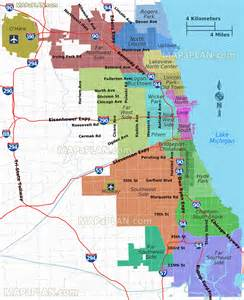 Chicago Districts Map by Chicago Map Districts Neighborhoods Regions Suburbs