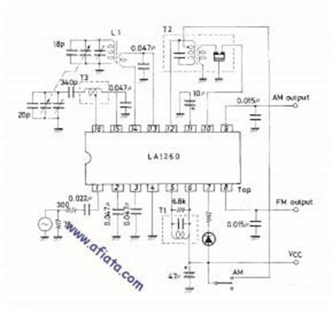 Ic La1260 La 1260 am fm tuner circuit using ic la1260 la1185 electronic circuit diagram and layout