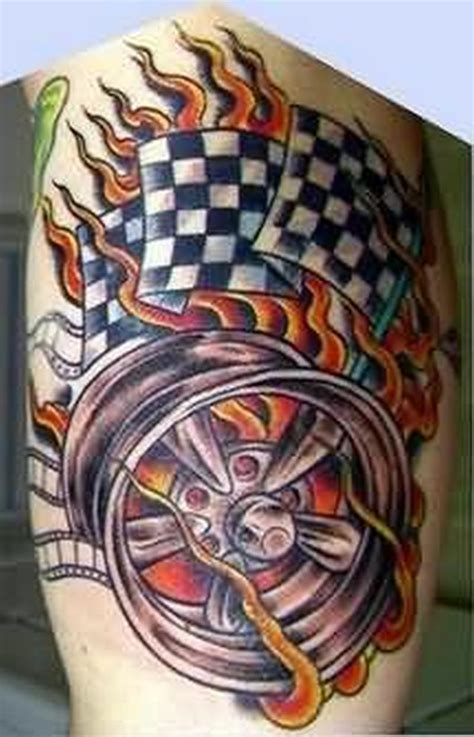 racing flag tattoo designs checkered flag nd design tattoos book