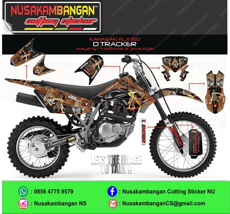 Stiker Motor Klx D Tracker by Harga Sticker D Tracker 150 Satu Sticker