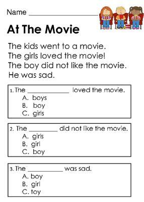 Set Gamis Masha No 5 5 6thn kindergarten reading comprehension worksheets pdf