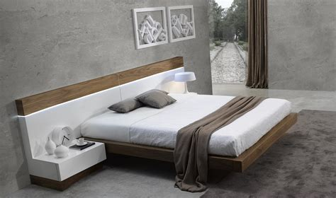 How Wide Is A Headboard by Floating Design Walnut Frame With Wide White