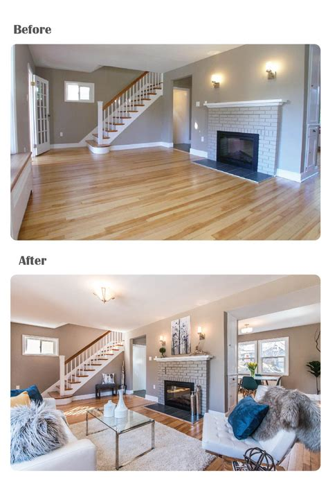 before and after staging before and after staged for upsell