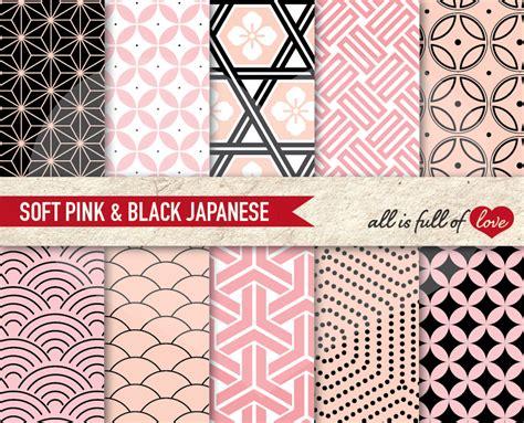 japanese pattern sheets japanese pattern sheets pink black digital paper pack by